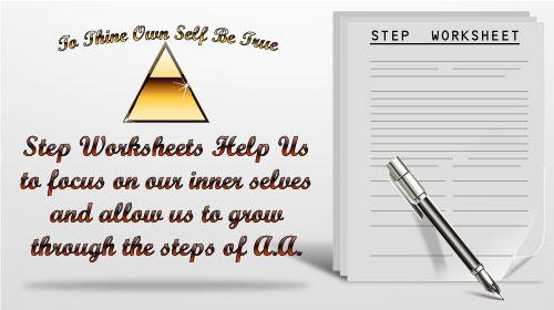 SoberPuppy – Aa Step 6 Worksheet